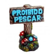 0519 - PLACA PROIBIDO PESCAR DECORADA