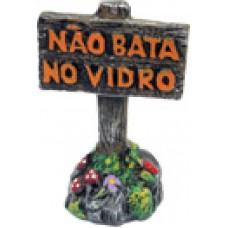 0547 - PLACA N.B. VIDRO DECORADO
