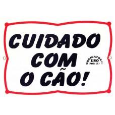 2900 - PLACA CUIDADO COM CAO P