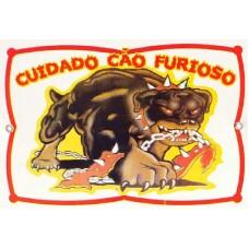 2901 - PLACA CUIDADO CAO FURIOSO P