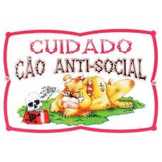 2912 - PLACA CUIDADO CAO ANTI-SOCIAL G