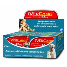 7002 - IVERCANIS 12MG(60KG)DISP.12CART.C/4COMP.