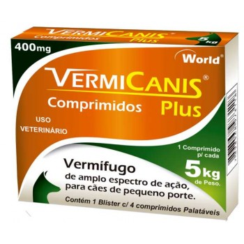 VERMICANIS 400MG(5KG) CART.C/04 COMP.
