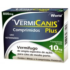 VERMICANIS 800MG(10KG) CART.C/04 COMP.